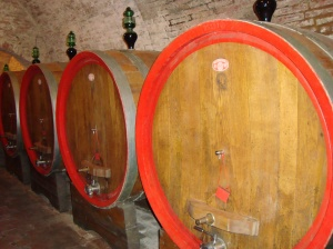 Barrels and barrels of fine wine!