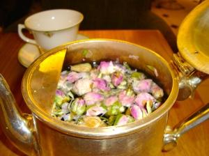 Fresh rose tea