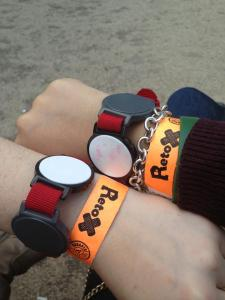 Our Retox jewelry. I have yet to take off my orange bracelet.