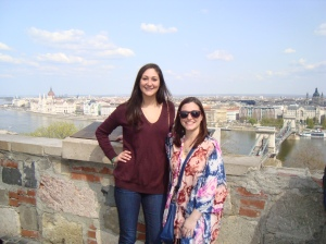 Rachel and I overlooking the beautiful city of Budapest